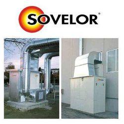 Nagrzewnica stacjonarna olejowa lub gazowa SF EX 500 - moc 465 kW wersja przeznaczona do stałego montażu na zewnątrz budynku