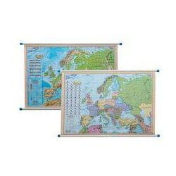 Europa mapa ścienna dwustronna polityczno - fizyczna 1:12 000 000. Darmowy odbiór w niemal 100 księgarniach!