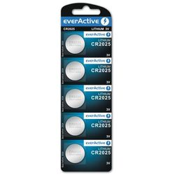 5x bateria litowa mini everActive CR2025