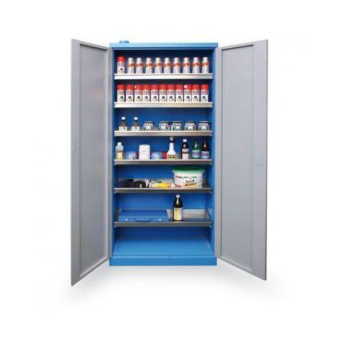 Półki warsztatowe, Szafa do przechowywania niebezpiecznych substancji chemicznych 1920x920x380 mm
