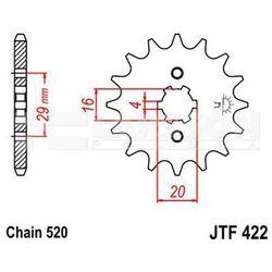 Zębatka przednia JT F422-12, 12Z, rozmiar 520 2200639 Yamaha YZ 125, Suzuki GT 185