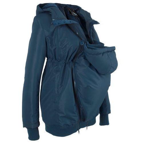 Płaszcze i kurtki ciążowe, Kurtka ciążowa zimowa z ocieplaną wstawką niemowlęcą na nosidełko bonprix ciemnoniebieski