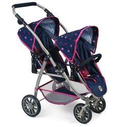 Bayer Chic wózek dla dwóch lalek VARIO PRO, różowo-niebieskie gwiazdy