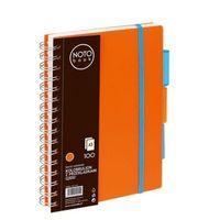 Zeszyty, Kołobrulion A5 100k. Grand NOTO Book z przekładkami pomarańczowy