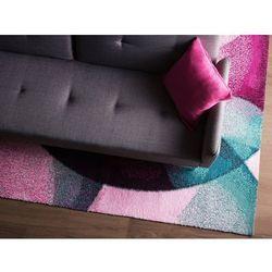 Dywan różowo-zielony 140 x 200 cm krótkowłosy EDESA