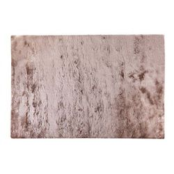 Dywan shaggy DOLCE szarobrązowy z beżowym połyskiem - poliester - 120 * 170 cm