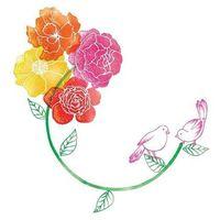 Pozostałe artykuły szkolne, Karnet Swarovski kwadrat CL2617 Kolorowe kwiaty