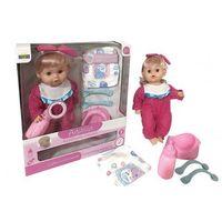 Lalki dla dzieci, Lalka Agusia Różowa piżamka w kropki