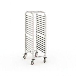 Wózek ze stali nierdzewnej na pojemniki gastronomiczne, 10 poziomów, GN 1/1, 1350x380x550 mm
