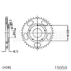 Zębatka tylna stalowa JT 50-15050-55, 55Z, rozmiar 428 2301989 Sachs X-Road 125