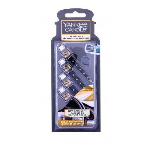 Odświeżacze powietrza do samochodu, Yankee Candle New Car Scent Vent Stick zapach samochodowy 4 szt unisex