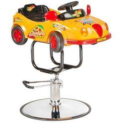 Dziecięcy fotel fryzjerski Autko BW-602 pomarańcz