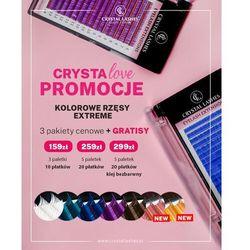 CrystaLova Promocja - rzęsy kolorowe 5 Paletek + 20 Płatków + Klej