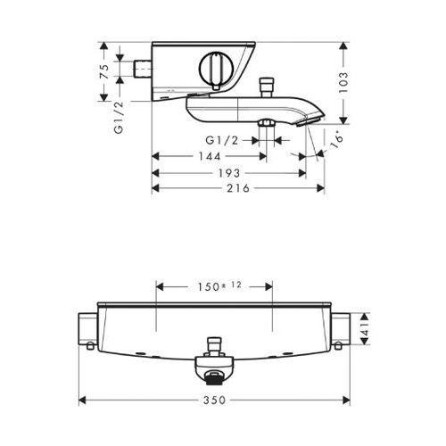 Baterie do wanien, Bateria Hansgrohe Axor urquiola 13141000