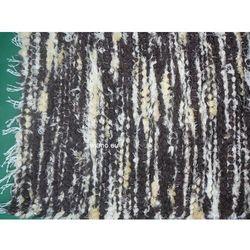 Chodnik bawełniany ręcznie tkany brązowo-ecru z żółtym 50x100 cm (k-14)