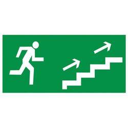 Znak Kierunek ewakuacji schodami w prawo w górę