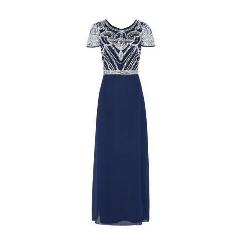 Suknie i sukienki, Boohoo Suknia wieczorowa 'BOUTIQUE FRANCESCA' granatowy / biały