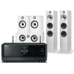 Yamaha RX-V4A (czarny) + 603 S2 AE (biały) + 607 S2 AE (biały) + HTM6 S2 AE (biały)