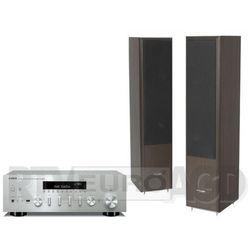 Yamaha MusicCast R-N602 (srebrny), Pylon Audio Coral 25 (wenge)