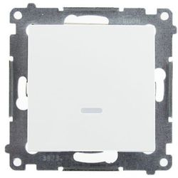 Łącznik podtynkowe Kontakt-Simon 54 DW1L.01/11 jednobiegunowy z podświetleniem LED biały