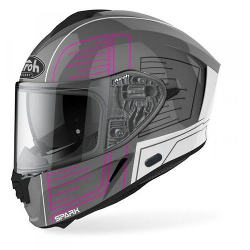Kaski motocyklowe, Airoh kask off-road spark cyrcuit pink gloss