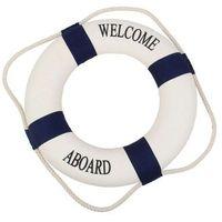 Kamizelki i pasy ratunkowe, Koło ratunkowe niebieskie pasy, dekoracja Life buoy blue, M 25 cm