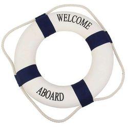 Koło ratunkowe niebieskie pasy, dekoracja Life buoy blue, M 25 cm
