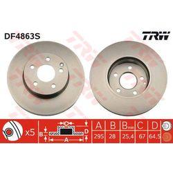 TARCZA HAM TRW DF4863S MERCEDES C200, C220 CDI, C230 07-, W211 E250 CDI 08-, E200 CDI 09-