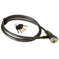 Zabezpieczenia do roweru, Onguard Akita 8039 Zapięcie kablowe 120 cm Ø12 mm szary/czarny Linki rowerowe