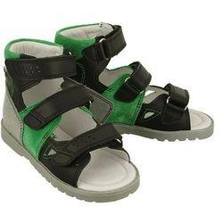 BARTEK 81804 057 czarno zielony, obuwie profilaktyczne dziecięce; rozmiary: 21-26