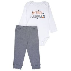 Carter's HALLOWEEN MY FIRST PUMPKIN BABY SET Body white