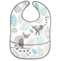 Śliniak zmywalny z kieszenią JUNGLE szary lemur Canpol