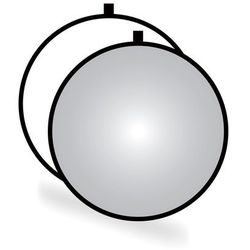 Blenda okrągła 2w1, biało-srebrna, 80cm