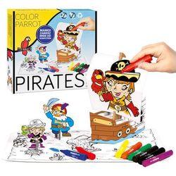 Zestaw kreatywny do kolorowania - pisaki - Piraci