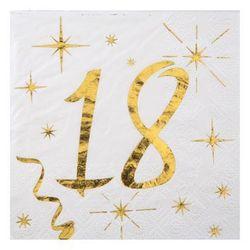 Serwetki na osiemnaste urodziny - 12,5 cm - 20 szt.