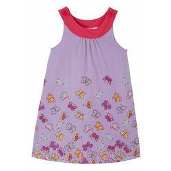 Sukienka dziewczęca z dżerseju z bawełny organicznej bonprix w kolorze bzu