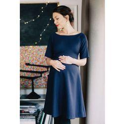ubrania ciążowe Trapezowa sukienka ciążowa Tolve Piękny Brzuszek