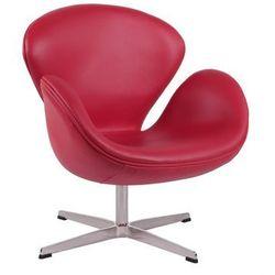 Fotel Cup inspirowany projektem Swan skóra - czerwony