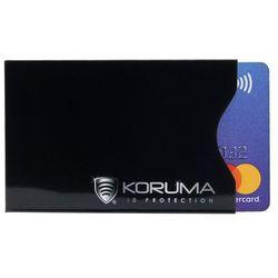 Ekranowane Antykradzieżowe Etui Ochronne Kart RFID PayPass PayWave - Czarny