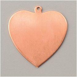 Metalowa zawieszka Efcolor - serce 36x39 mm - SE3639