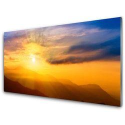 Obraz Akrylowy Góra Słońce Chmury Krajobraz