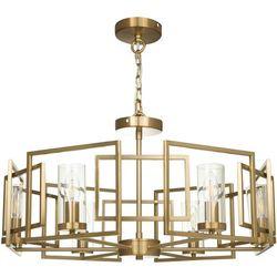 Żyrandol do salonu wiszący, złoty, geometryczny wzór Bowi Maytoni (H009PL-06G)