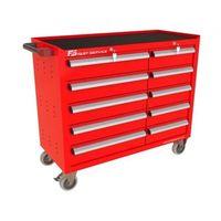 Wózki i stoły narzędziowe, Wózek warsztatowy TRUCK z 10 szufladami PT-215-15