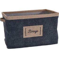 Pudełko tekstylne denim, kosz tekstylny, pojemniki do przechowywania, pudełka materiałowe, pojemniki tekstylne, koszyki ozdobne