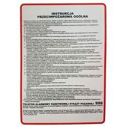 Instrukcja 2 BHP przeciwpożarowa ogólna - TABLICA