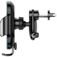 Uchwyty do telefonów, Baseus automatyczny elektryczny uchwyt samochodowy bezprzewodowa ładowarka Qi 15W czarny (WXHW03-01)