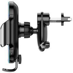 Baseus automatyczny elektryczny uchwyt samochodowy bezprzewodowa ładowarka Qi 15W czarny (WXHW03-01)