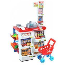 Supermarket zabawkowy sklepik dla dzieci + wózek