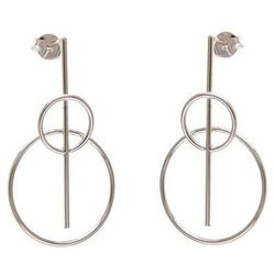 Delikatne srebrne wiszące kolczyki celebrytki kółko kółeczko ring srebro 925 K1620