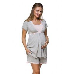 Piżama ciążowa lupoline 3126 k rozmiar: 38, kolor: szaro-różowy, lupo